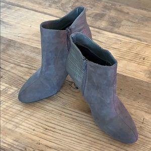 Express Gray Heel Ankle Boots Womens Size 7